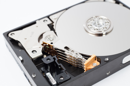 hardware: Open Inside Hard Disk Drive HDD-Computer Hardware Components.
