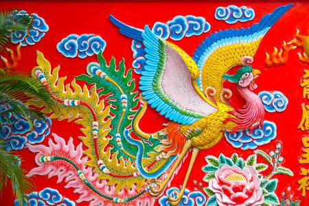 chinese phoenix: Chinese phoenix sculpture.