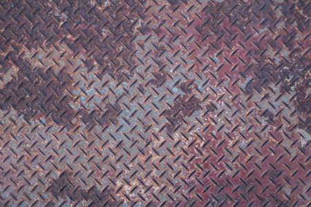 diamondplate: Steel floor rust, Background of metal diamond plate in grungy color.
