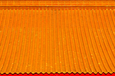 Chinese temple roof.