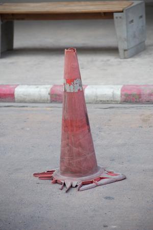 devise: orange pylon safety and warning devise, traffic cone