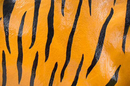tiger skin: tiger skin paint on concrete texture background