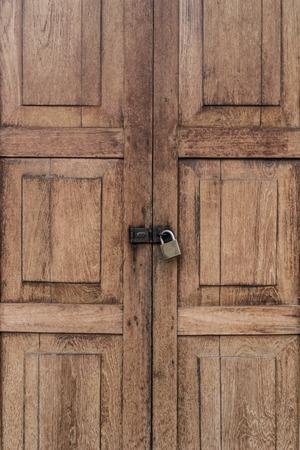 locked: locked wood door