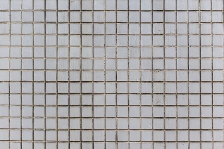 mosaic: white old mosaic pattern Stock Photo