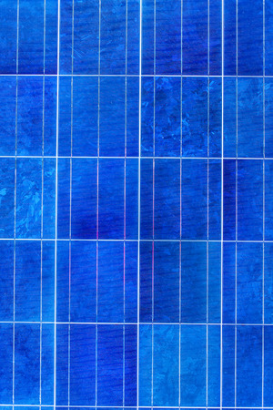 voltaic: Solar panel or solar cell texture pattern background. Stock Photo