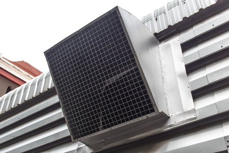 blowhole: Air duct, Vent for Factory or Industrial Stock Photo