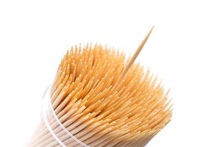 tandenstokers gemaakt van bamboe hout.