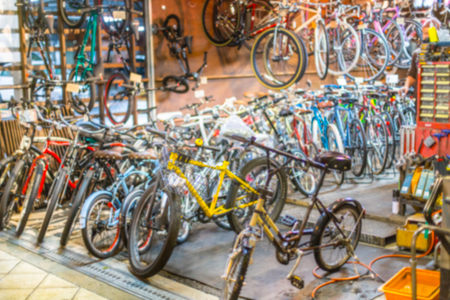 blur bike shop for background.