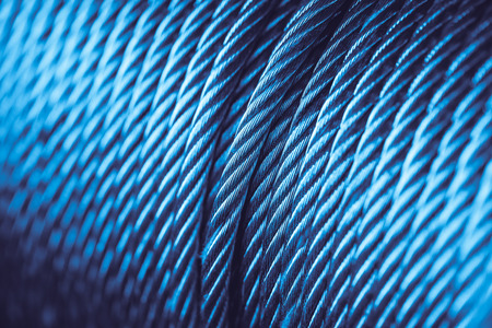 Blue Steel Cable Technology, Steel wire, Steel Rope or Rope sling drum. Reklamní fotografie