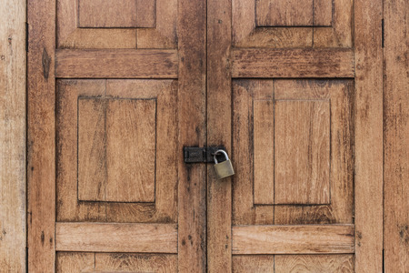 locked: locked wood door