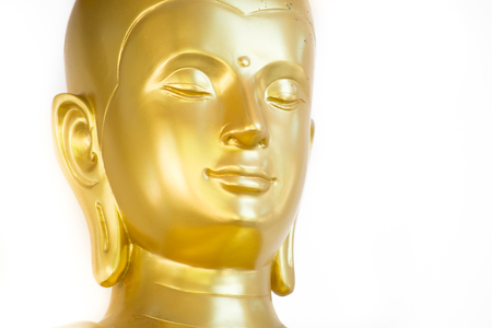 Beautiful Peaceful of Golden Buddha Face