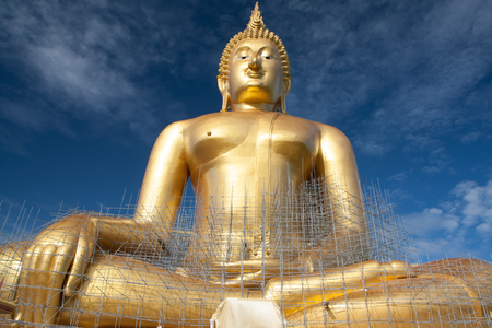 thialand: under construction large golden buddha Stock Photo