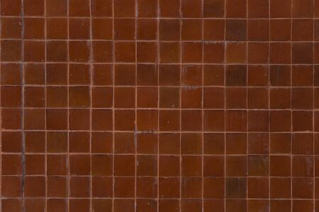 red wall: old red tile wall. Stock Photo