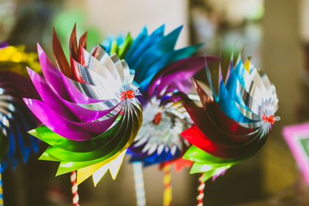 Colorful Wind up toy for kid play and decoration. Stock Photo