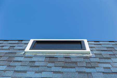 conservatory: Roof window ,Sun clear glass windows at the roof of house for sun light pass heater in home.
