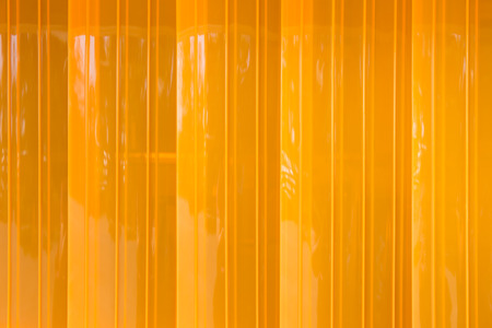 closeup PVC strip curtain or plastic strip doors.