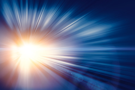High speed business and technology concept, Acceleration super fast speedy motion blur of light ray abstract for background design.