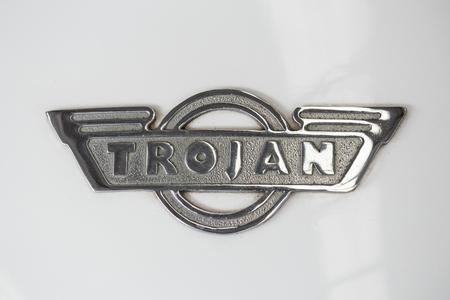 Bangkok,THAILAND-November 11 2016: Trojan Vintage mini car logo of British automobile manufacturer producing light cars between 1914 and 1965. Editorial