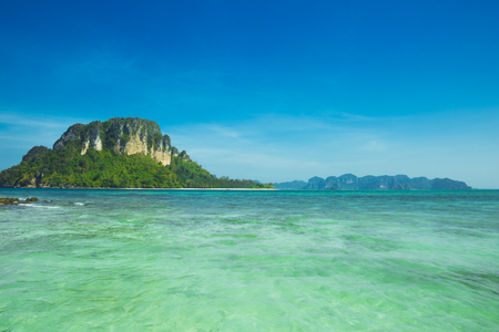 Tropical beach and island in Andaman Sea, Thailand