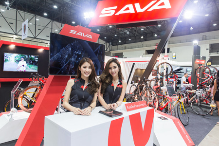 BANGKOK,THAILAND,4 May 2017:International Bangkok Bike 9th 2017. Largest Cycling Bike Expo in Thailand,Trend of Cycling Popular and Bike for Dad Asia is new large target of cycling market consumer.