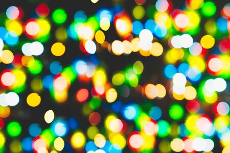 mix color colorful blur bokeh. nightlife vivid blurry colors night. Stock Photo