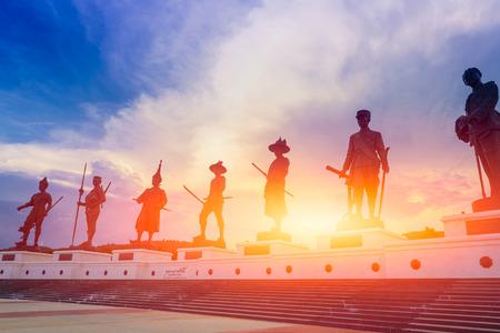 Hua-Hin, Thailand - May 15, 2017 :Rajabhakdi Park Thai Kings monument travel location at Hua-Hin, Thailand. Editorial