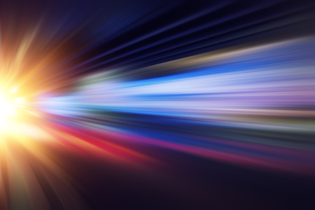 motion blur fast business and technology background concept, Acceleration super zoom blurry night road.