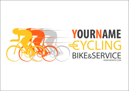 Bicycle shop cycling or bike repair service logo vector sign label business design.