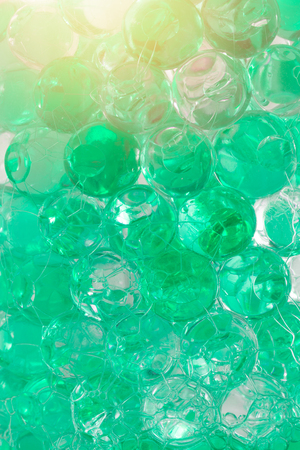 polymer scent aroma gel ball cool water green color