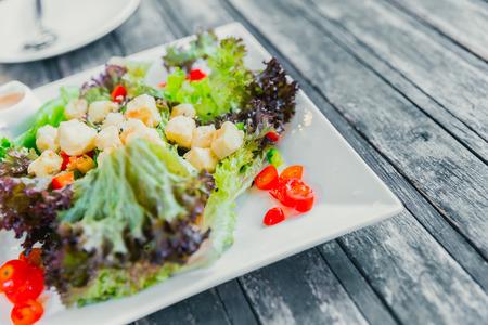 Eat healthy food or clean food vegetarian recipes mix salad on wood eat healthy food or clean food vegetarian recipes mix salad on wood table vintage color tone forumfinder Gallery