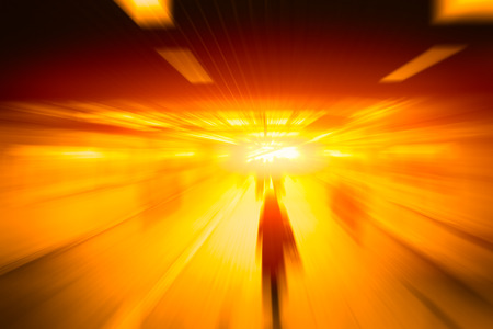 Blur High Speed Business People Go Forward Fast Moving Concept Stock Photo
