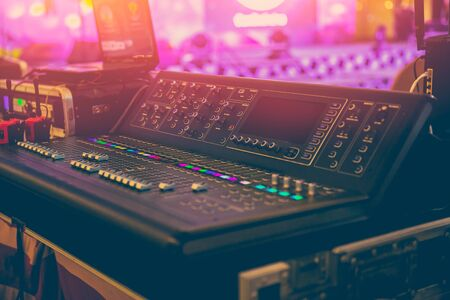 Sound Mixer Professional Sound Engineer in Event Concert Hall
