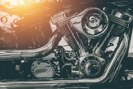 vintage motorcycle engine shiny chrome art photography