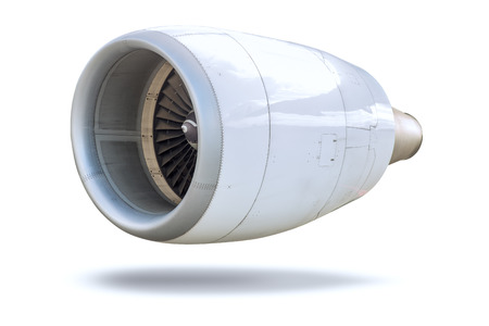 Aircraft Turbine Jet Engine isolated on white with clipping path