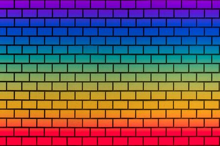 rainbow coloful wall for background