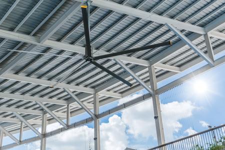 Ventilateurs de plafond commerciaux de HVLS grands ventilateurs industriels sur le toit pour le refroidissement et la ventilation d'air chaud pour le centre commercial