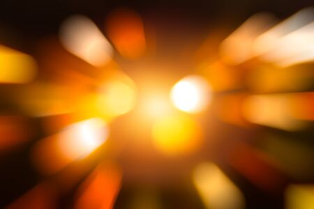 Light Zoom Blur Bokeh to fast speed moving abstract for background Stock Photo