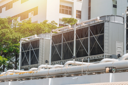 HVAC Air Chillers on Rooftop Units of Air Conditioner for Large Industry Air Cooling system