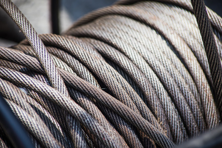 Steel Wire Rope Slings Roll Heavy Duty Grunge with oil