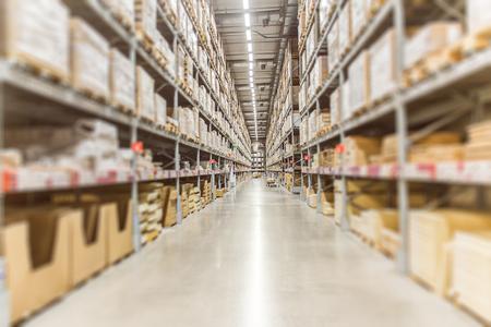 Gran inventario. Stock de mercancías de almacén para el fondo de banner de envío logístico. Foto de archivo