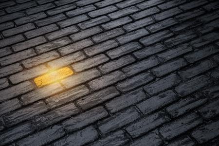Unterschiedliches Konzept der Leistung von Geschäftsmitarbeitern. einzigartige Farbe goldener Ziegel an der Wand.