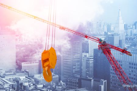 crane hoist building city concept