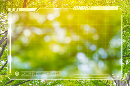green tree nature with HUD panel space for background. Standard-Bild