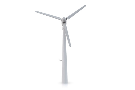wind turbine isolated on white background.