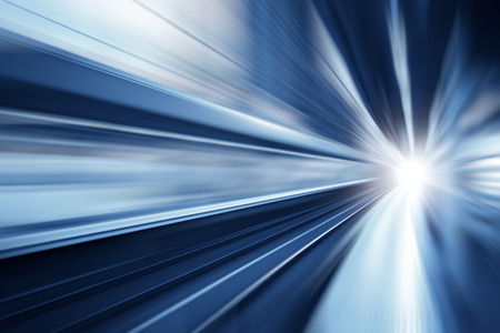 High speed business and technology concept, Acceleration super fast speedy motion blur zoom