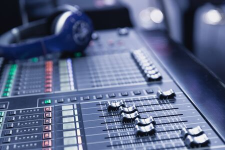 Sound mixer device for sound engineer to mix multiple channel of voice and music for record studio or stage performance;