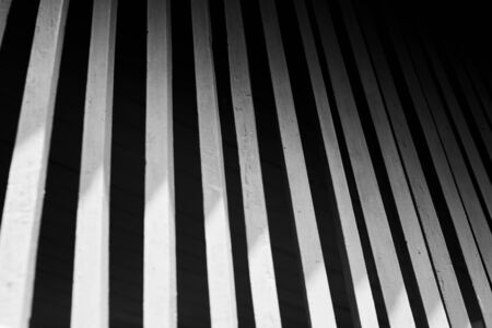 black and white art photography shadow of pattern interior line contrast light and shade of wooden windows. Imagens