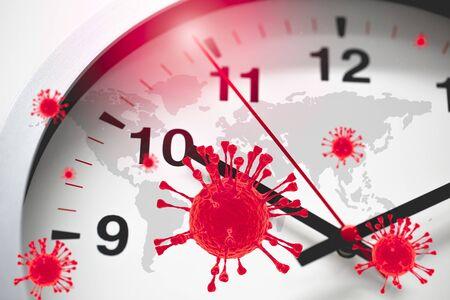 Coronavirus COVID-19 Global Virus Emergency Times Urgent time countdown concept. Stock fotó