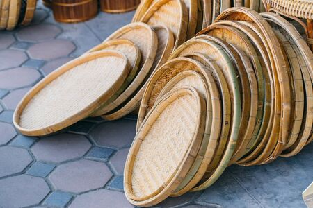basketry bamboo weave shop in Thailand