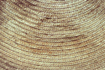 rattan bamboo braiding weave Asian handcraft detail texture vintage tone for background Zdjęcie Seryjne